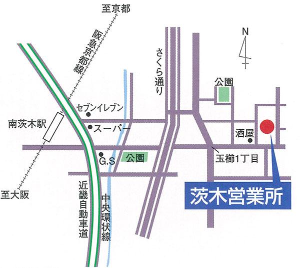 茨木営業所MAP